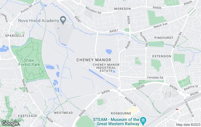 Map for FlexSpace, Swindon