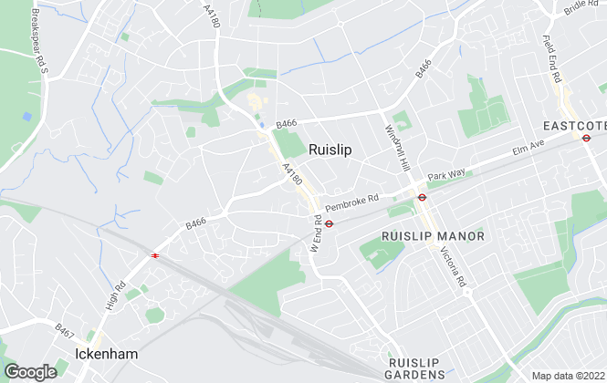 Map for Coopers, Ruislip
