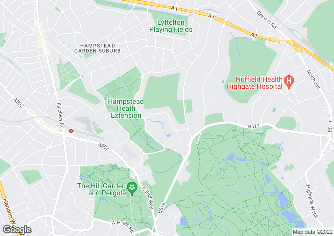 Map for Ingram Avenue, Hampstead Garden Suburb, London NW11 6TL