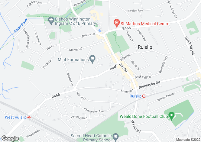 Map for Ruislip
