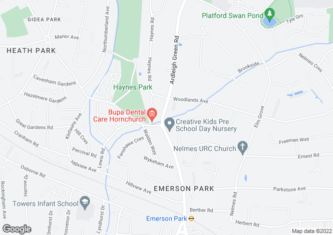 Map for Emerson Park