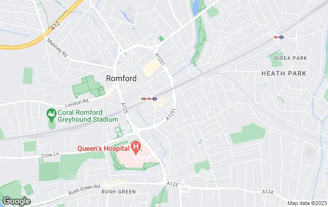 Map for Ashton & Perkins, Romford