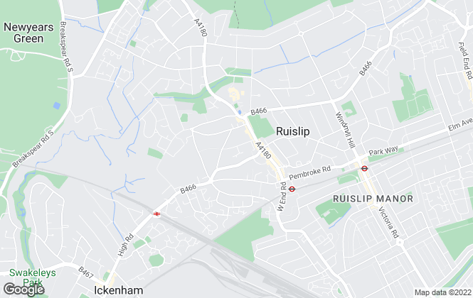 Map for Gibson Honey, Ruislip - Lettings
