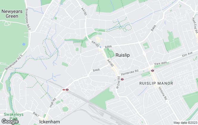 Map for Gibson Honey, Ruislip - Lettings