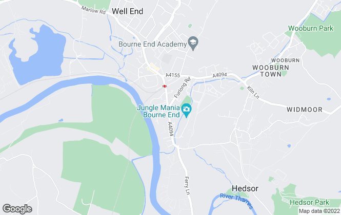 Map for Robertsons Estate Agents, Bourne End