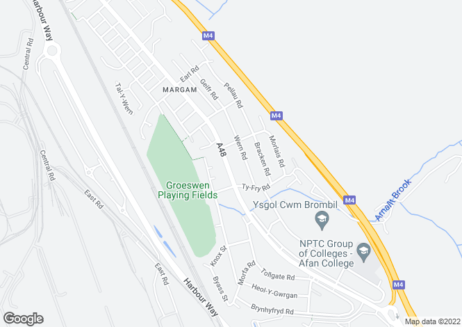 Map for 173 Margam Road, Margam, Port Talbot