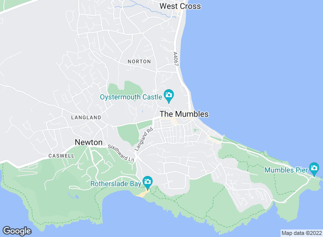 Map for Gower Coast Properties, Mumbles