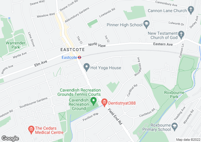 Map for Ascot Court, Eastcote, HA4