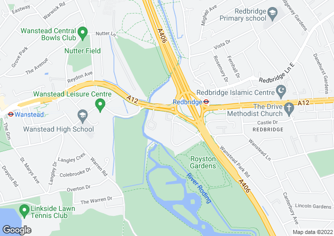 Map for Royston Court, Royston Gardens, Redbridge