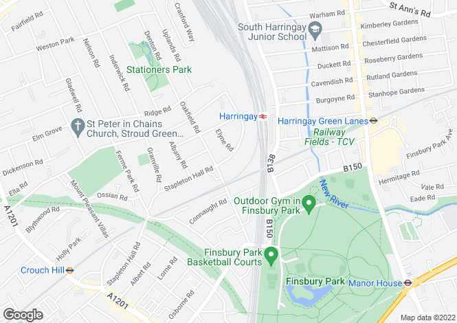 Map for Stapleton Hall Road, Harringay, N4
