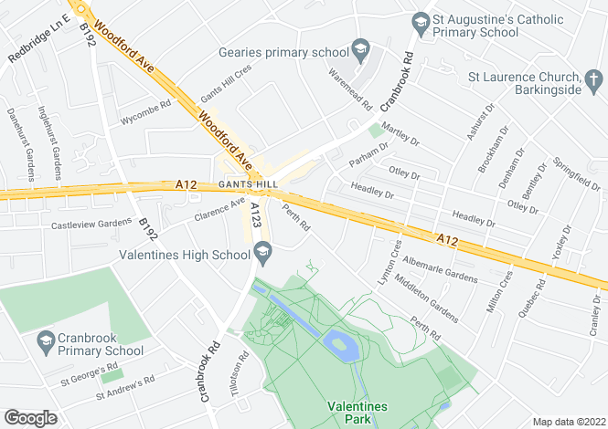 Map for Gabrielle House Perth road