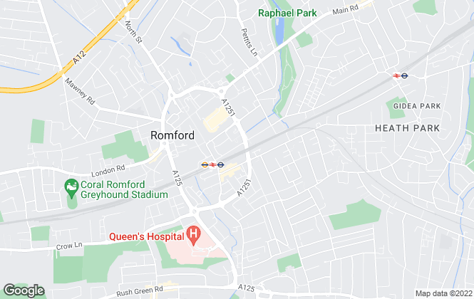 Map for Glenisters Estate Agents, Romford
