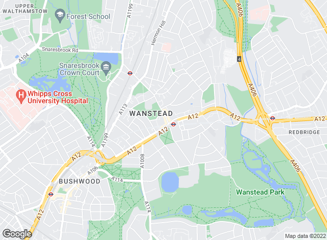 Map for Bairstow Eves, Wanstead