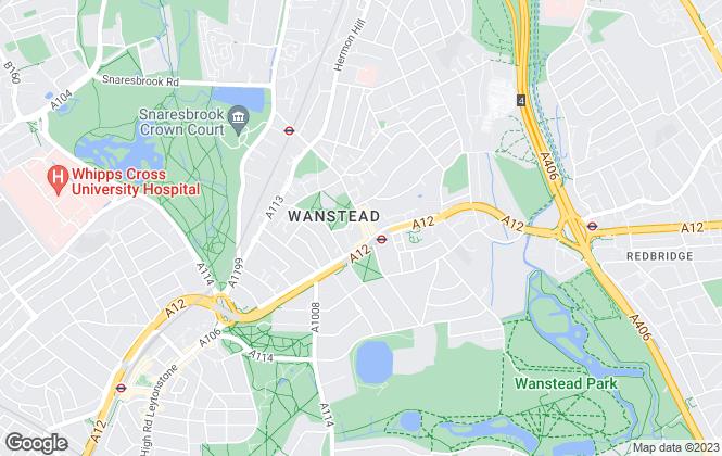 Map for Douglas Allen, Wanstead