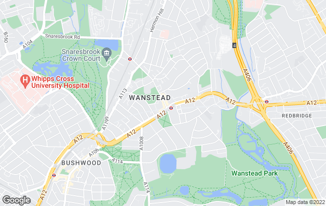 Map for Bairstow Eves Lettings, Wanstead