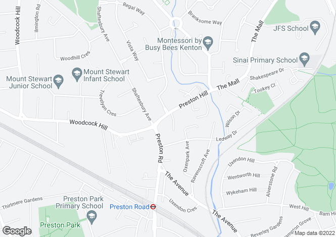 Map for Bruce House, Preston Hill, HARROW, Wembley, Middlesex