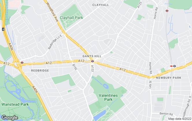 Map for Belvoir, Gants Hill