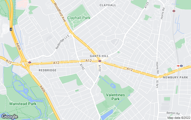 Map for Charlesons, Gants Hill