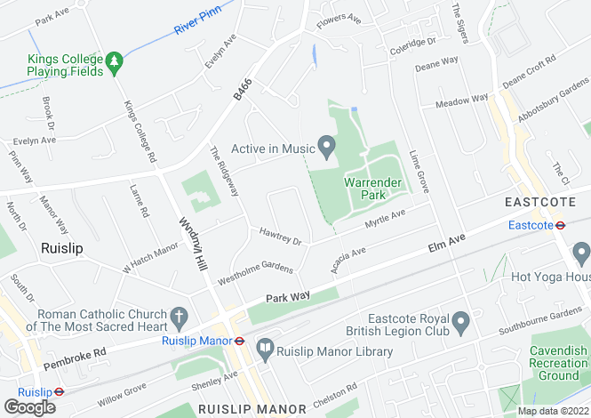 Map for College Drive, Ruislip