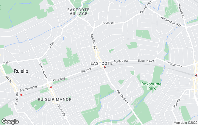 Map for Lawrence Rand, Eastcote, Pinner
