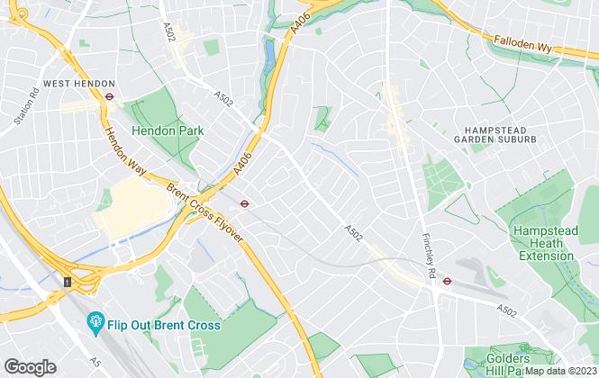 Map for Live London Estates , Golders Green
