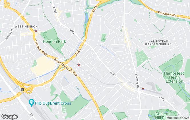 Map for Live London Estates Ltd, Golders Green