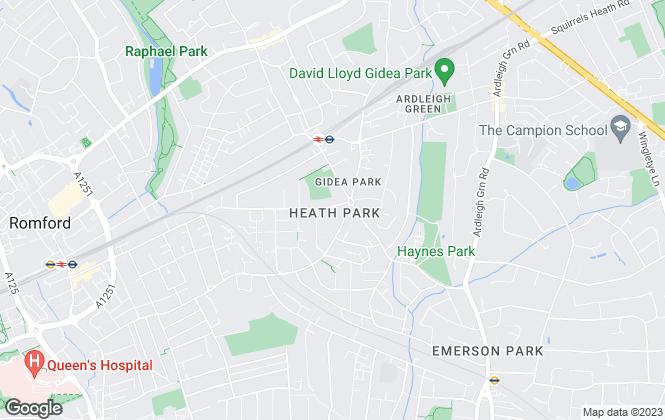 Map for Tailor Estates, Romford