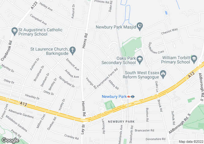 Map for ABBEY ROAD, Newbury Park