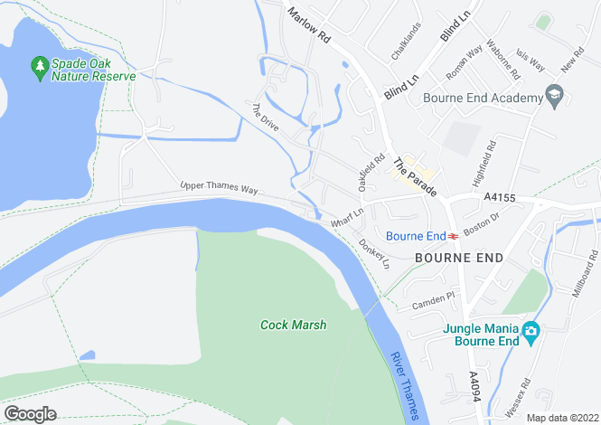Map for Bourne End-Stylish riverside home