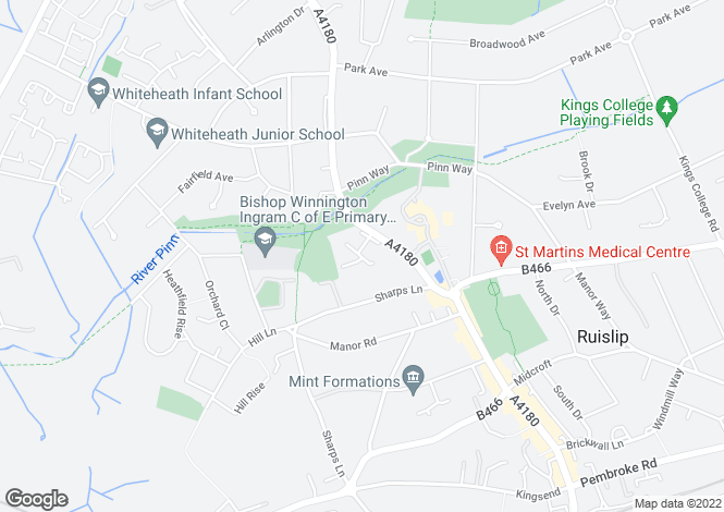 Map for Drake House, Mill Drive, Ruislip, Middlesex, HA4