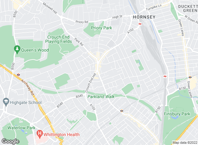 Map for Prickett & Ellis, Crouch End