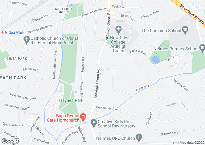 Map for Bowers, Ayloffs Walk,