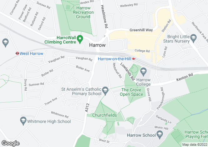 Map for 28, Roxborough Park, Harrow