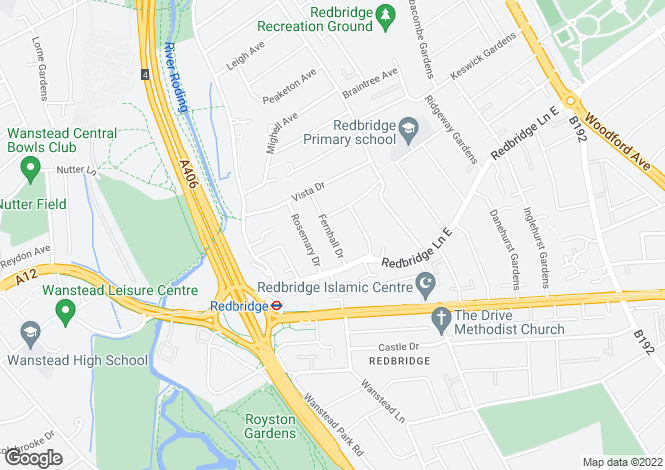 Map for FERNHALL DRIVE REDBRIDGE IG4