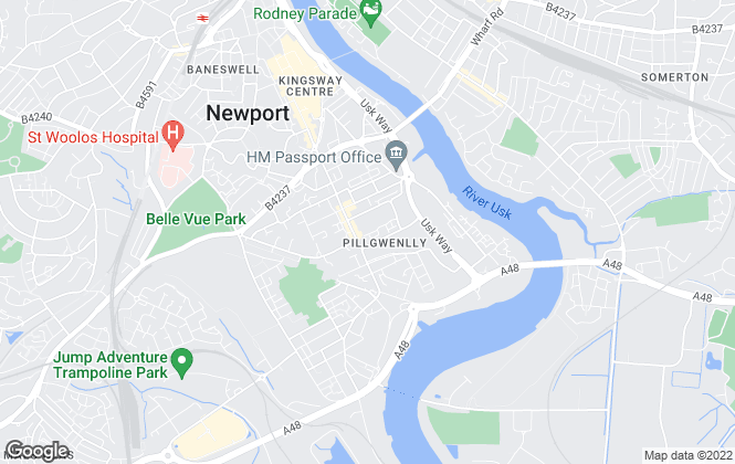 Map for Mulu Home, Newport