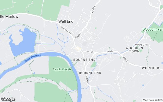 Map for Hunt & Nash, Bourne End