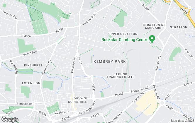 Map for Alder King, Swindon