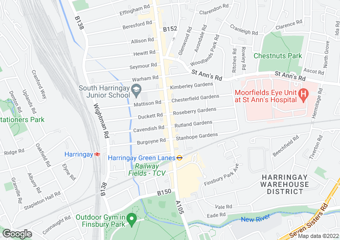 Map for Grand Parade, Harringay, N4