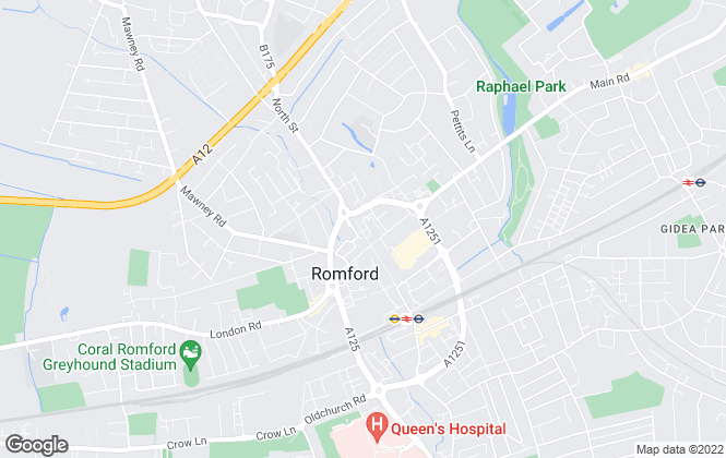 Map for Andrews Estate Agents, Romford