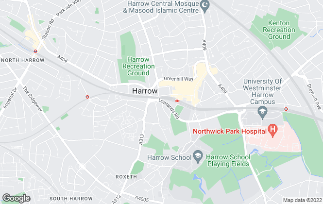 Map for Rouge Property Ltd , Harrow