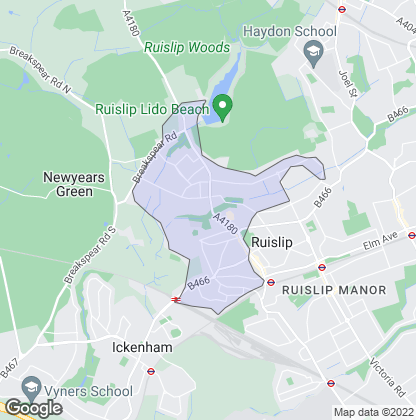 Map of property in Ruislip Common