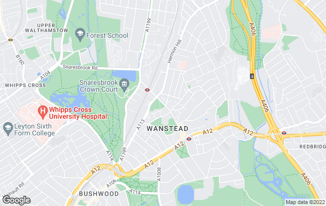 Map for DABORACONWAY, Wanstead - Sales