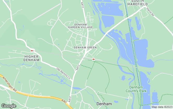 Map for Carter Duthie Estate Agents, Denham