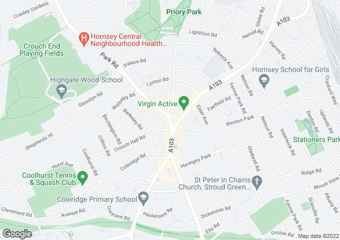 Map for Crouch End, N8