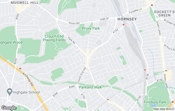 Map for Hornsey Agencies, London