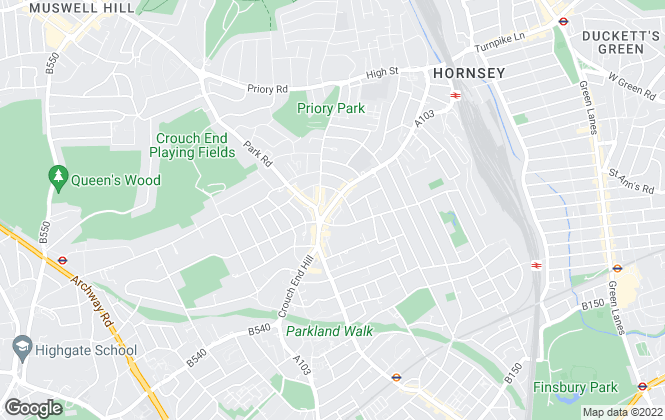 Map for Hamptons Sales, Crouch End