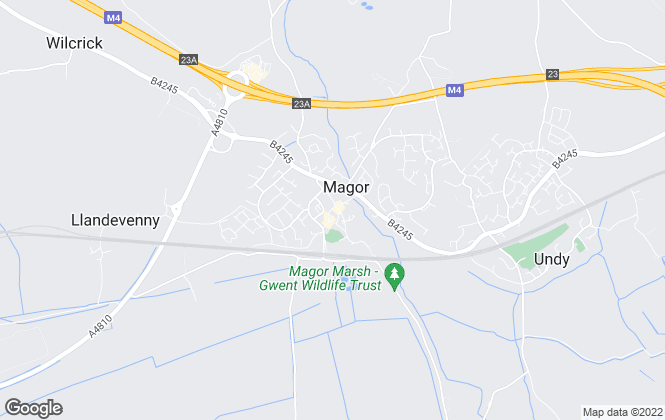 Map for CHF Estate Agents, Magor