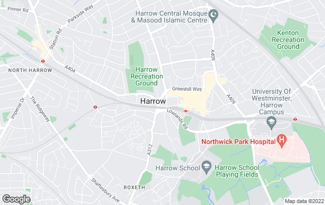 Map for Bradstowe House, Harrow