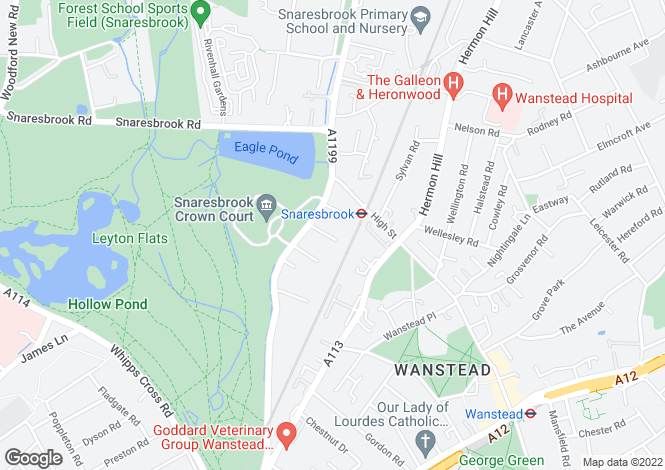 Map for Wanstead, E11