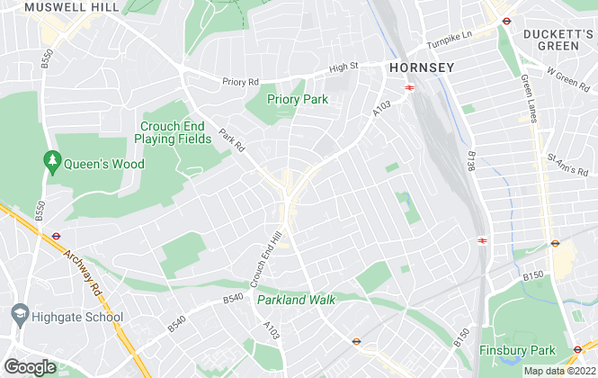 Map for Links , Crouch End